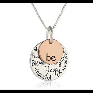 Cute silver and rose gold plated necklace